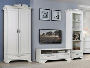 Dettagli su IDENTO collezione di mobili per soggiorno bianco opaco design  classico maniglie in metallo- mostra il titolo originale