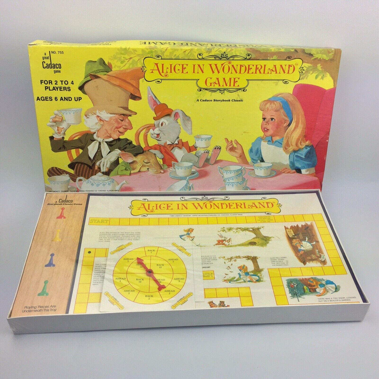 Vintage Alice In Wonderland board game NO.755 Cadaco Game 1984 - New Sealed