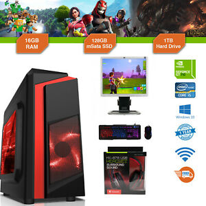 Paquete-De-Pc-Para-Juegos-Intel-Core-i5-3-1GHz-Win10-GT710-16GB-Ram-128GB-SSD-1TB-Barata