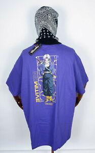 Primitive Skate Skateboards Tee T-Shirt Dragonball Z Trunks Glow Purple in S
