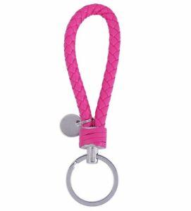 Geflochtener-Schluesselanhaenger-Schluesselring-Schluesselband-pink-13cm