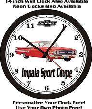 1960 CHEVROLET IMPALA SPORT COUPE WALL CLOCK-FREE US SHIP!