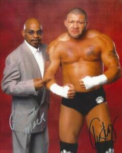 Rodney Mack Teddy Long autographed 8x10 WWE ECW Free Shipping #2