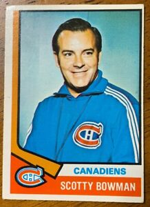 1974-75-O-Pee-Chee-Hockey-261-Scotty-Bowman-Co-RC-Montreal-Canadiens