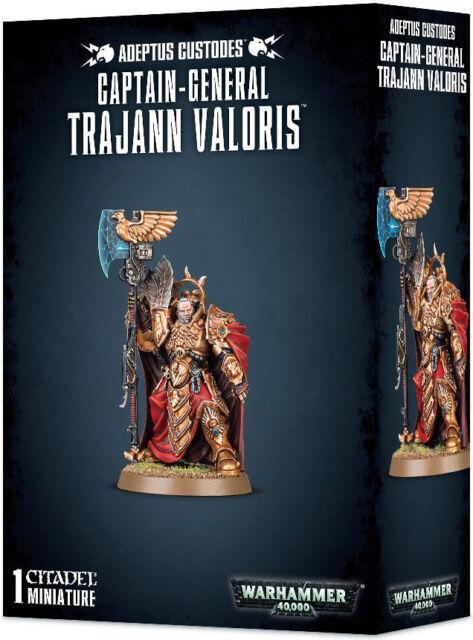 01-10 Brand New in Box! Warhammer 40K Captain-General Trajann Valoris