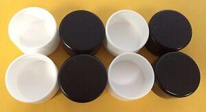 "24 Round 1"" Plastic Cap Patio Furniture Glides Tube Inserts - Black or White!"