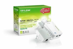 Modem-PLC-con-WIFI-TP-LINK-TL-WPA4220-KIT-2-Nano-Powerline-500-mbps-AV500-Red