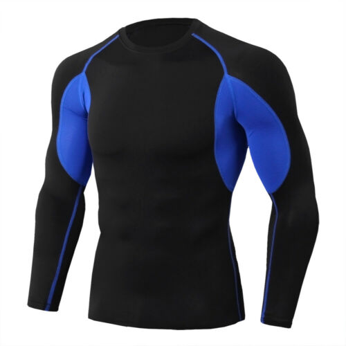 Men/'s Compression Shirts Workout Gym Skin Baselayer Long-Sleeve Dry Fit T-Shirt