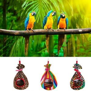 Pet-bird-parrot-parakeet-budgie-warm-hammock-cage-hut-tent-bed-hanging-cave-WA