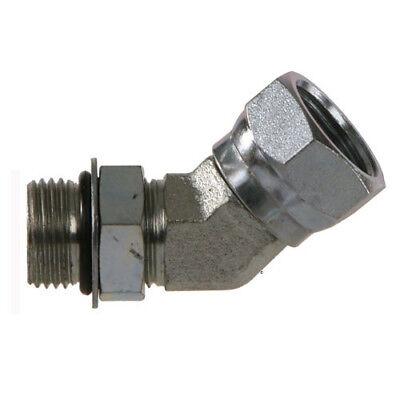 "6902-06-06 Hydraulic Fitting 3//8/"" Male O-Ring X 3//8/"" Female Pipe Swivel 45 9365"