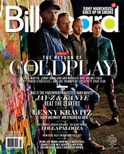 Billboard,Coldplay,JAY-Z,KANYE WEST,Lenny Kravitz,Lollapalooza,David Guetta NEW