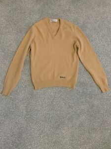 BURBERRYS-VINTAGE-Camel-Jumper-Pure-Lambswool-100-New-Wool-RARE-34inch
