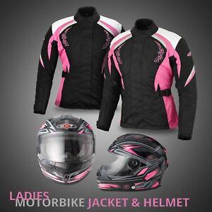 Motorbike-textile-Waterproof-Jacket-Ladies-Motorcycle-Full-Face-Road-Race-Helmet