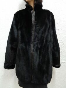 m 8 S Woman Coat 6 Women Jacket Sheared New Muskrat Fur Brand Black Size wTOqFW1