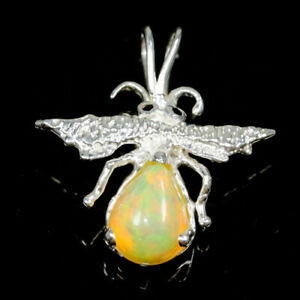 Beauty-Rainbow-10x8mm-Natural-Opal-925-Sterling-Silver-Pendant-NP06207