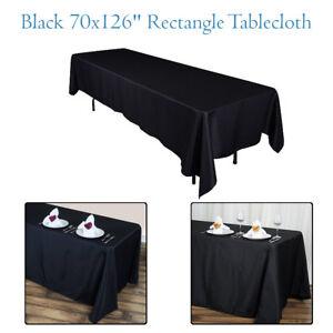 70x126-034-Rectangle-Polyester-Table-Noire-Tissu-Nappe-couverture-parti-evenement-salle-a-manger
