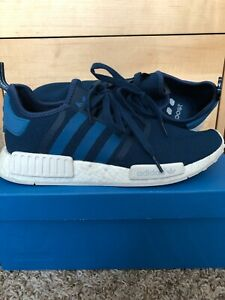 low priced 2056d 472a5 Details about Adidas NMD R1 Blue-White S31502 Size 11.5 for Men