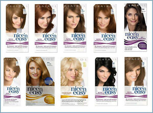 Clairol-Nice-039-n-Easy-Permanent-Hair-Dye-All-Colours-Black-Brunette-Blonde-Red
