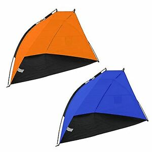 Image is loading Beach-Shelter-Wind-Break-Canopy-UV-Sun-Shade-  sc 1 st  eBay & Beach Shelter Wind Break Canopy UV Sun Shade Tent Festival Camping ...