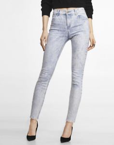 enjoy free shipping detailing aesthetic appearance Details about Express New $88 NWT High Rise Legging Skinny Stretch Jeans  Acid Light Wash Sz 4