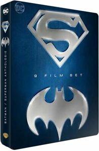BATMAN-SUPERMAN-COFFRET-STEELBOOK-BLU-RAY-9-FILMS-NEUF-SOUS-CELLOPHANE