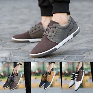 Hombre-Informal-Elegante-transpirable-Piel-Sintetica-Cana-Baja-zapatos-Comodo
