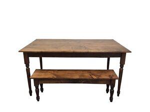 Franklin Farmhouse Table (Rustic Harvest Farmhouse Kitchen Dinning Table)