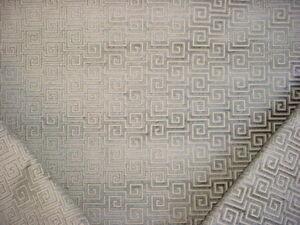 3y Thibaut Aw26129 Meander Steel Greek Key Textured Velvet