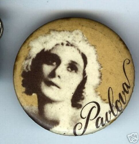 old PAVLOVA pocket MIRROR ballet ballerina dance