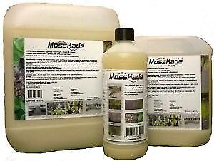 Mosskade liverwort, moss & algae killer hard surfaces & lawn moss killer 1lt