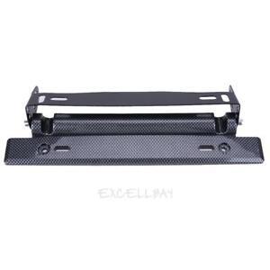 Adjustable-Carbon-Fiber-Number-Car-Racing-License-Plate-Frame-Holder-E0Xc
