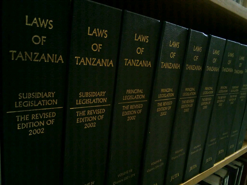 Laws Of Tanzania : Revised Edition of 2002