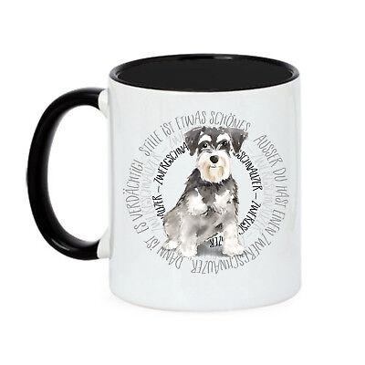 Tasse sitzender Husky