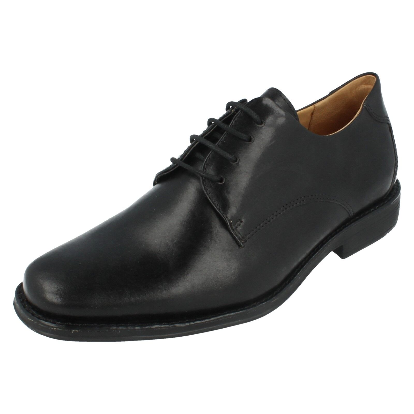 Mens Leme Black Leather Lace Up Shoes by Anatomic - £95.00