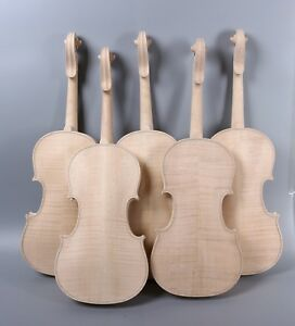 5x 4 4 Unfinished Violin Flame Maple Back Russian Spruce Violin Parts Yinfente Ebay