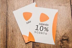 ZALANDO CODICE SCONTO del 10% buono voucher coupon ACCETTO PROPOSTE