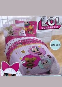 Lol Surprise Doll Bedding Set Twin Comforter And Glitterful Lol