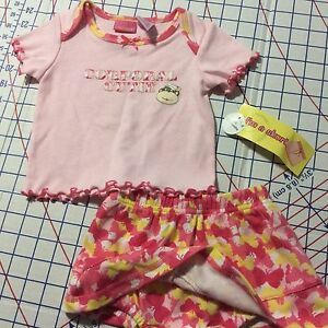 NEW Size 6/9M 2pc Skort Play Set CORPORAL CUTIE by Lil Lindsey