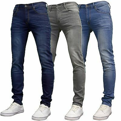 Crosshatch Men's Designer Branded Straight Leg Stretch Skinny Fit, BNWT