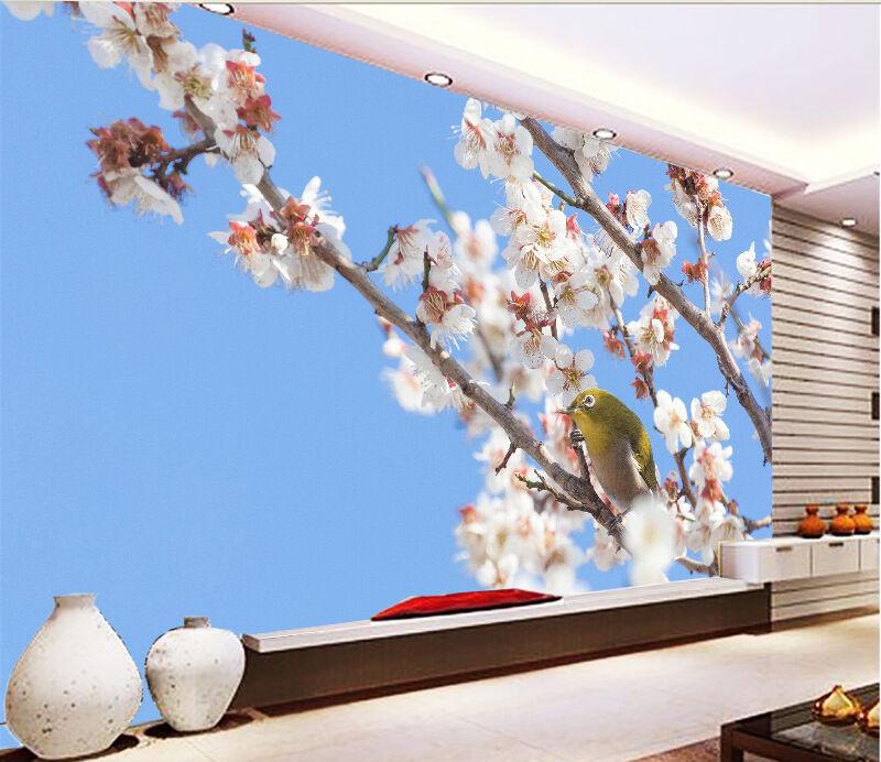 3D Flowers And Bird 998 WallPaper Murals Wall Print Decal Wall Deco AJ WALLPAPER