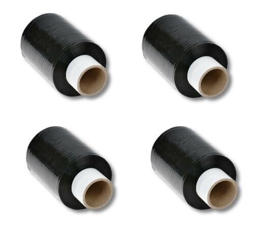 100mm x 150m schwarz EUR 0,01 // m Farbe 4 Rollen Mini Stretchfolie 23my