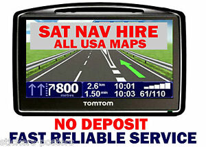 Image Is Loading 7 28 Day Hire Usa Maps Sat Nav