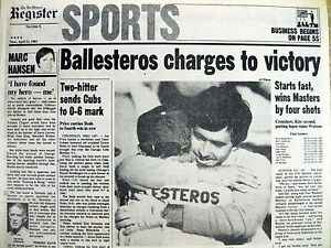 Image Is Loading Best 1983 Newspaper Spain 039 S Seve Ballesteros