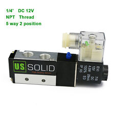 Us Solid 14 Pneumatic Electric Solenoid Valve 5 Way 2 Position Dc 12v Air