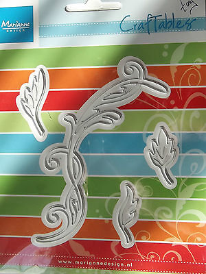 Tiny/'s Swirls /& Leaves 2 CR1244 Marianne Design Craftables Cut/&Embossing Dies