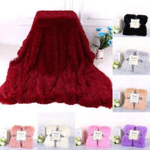 Faux-Fur-Blanket-Reversible-Soft-Warm-Plush-Bed-Sofa-Fluffy-Shaggy-Throw