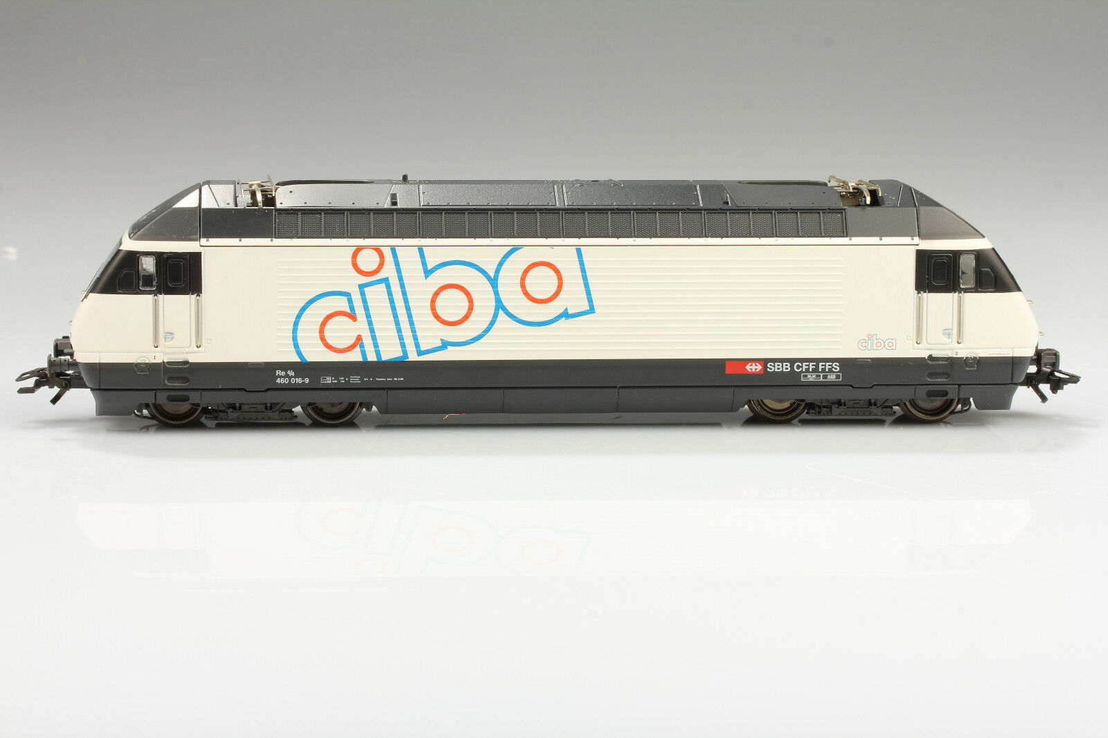 Märklin Hamo 8350 H0 Ciba SBB Re4 4 460 016-9 läuft Video  Schmutz Mängel OVP