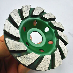 "4/"" Diamond Grinding Wheel 100mm Concrete Cup Disc Masonry Stone Tool Green"