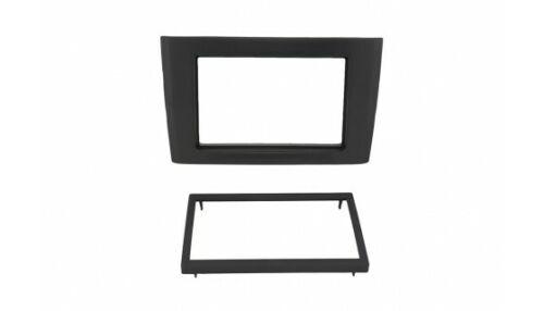 für Volvo XC90 Auto Radio Blende Montage Einbau Rahmen Doppel-DIN 2-DIN schwarz