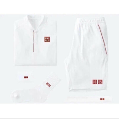 Roger Federer Uniqlo 2018 Wimbledon Tennis Set Limited Edition 5-piece  Size S